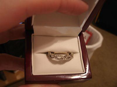 14 K w/gold Diamond anniversary band (Cleaned and Polished and Inspected) size6