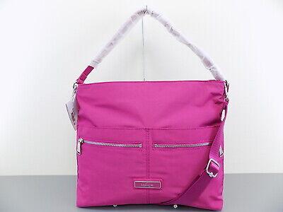KIPLING $149 CRISPIN Pink Shoulder Bag PURSE VERY BERRY HANDBAG L08