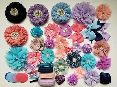 Diy Headband Kit (DIY Headband Kit - Baby Shower Activity Hair Craft Peach Purple Pink)