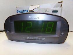 Philips AJ3540 Big Display Dual Digital Alarm Clock AM FM Radio SHIPS FREE!