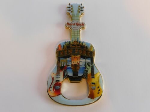 Hard Rock Cafe NEW YORK - Guitar with HRC Logo Magnet Bottle Opener