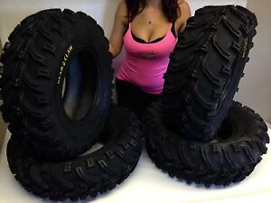 NEW-KENDA-K299-Bear-Claw-25x8-12-Front-25x10-12-Rear-ATV-Tires-Set-of-4