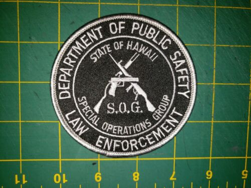 HAWAII SHERIFF POLICE PATCH PUBLIC SAFETY DEPT SOG SPECIAL OPERATIONS GROUP HI
