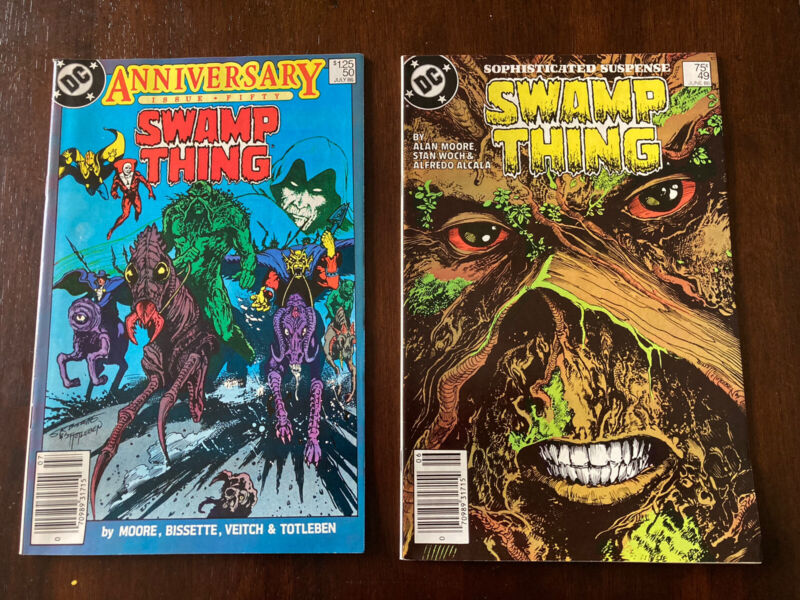 SWAMP THING #49 and #50 1st JUSTICE LEAGUE DARK DC Comics Newsstand Variant
