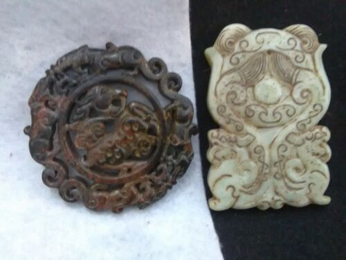 2/5B Ancient Chjinese Two Tang Dynasty (600-900ad) Jade Wall pendants