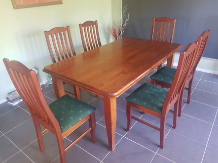 Dining room table, Solid wood. | Dining Tables | Gumtree Australia ...