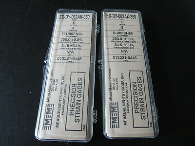 Vishay Micro Measurements Precision Strain Gage Ed-dy-062ak-350 Opt E 6 Pack