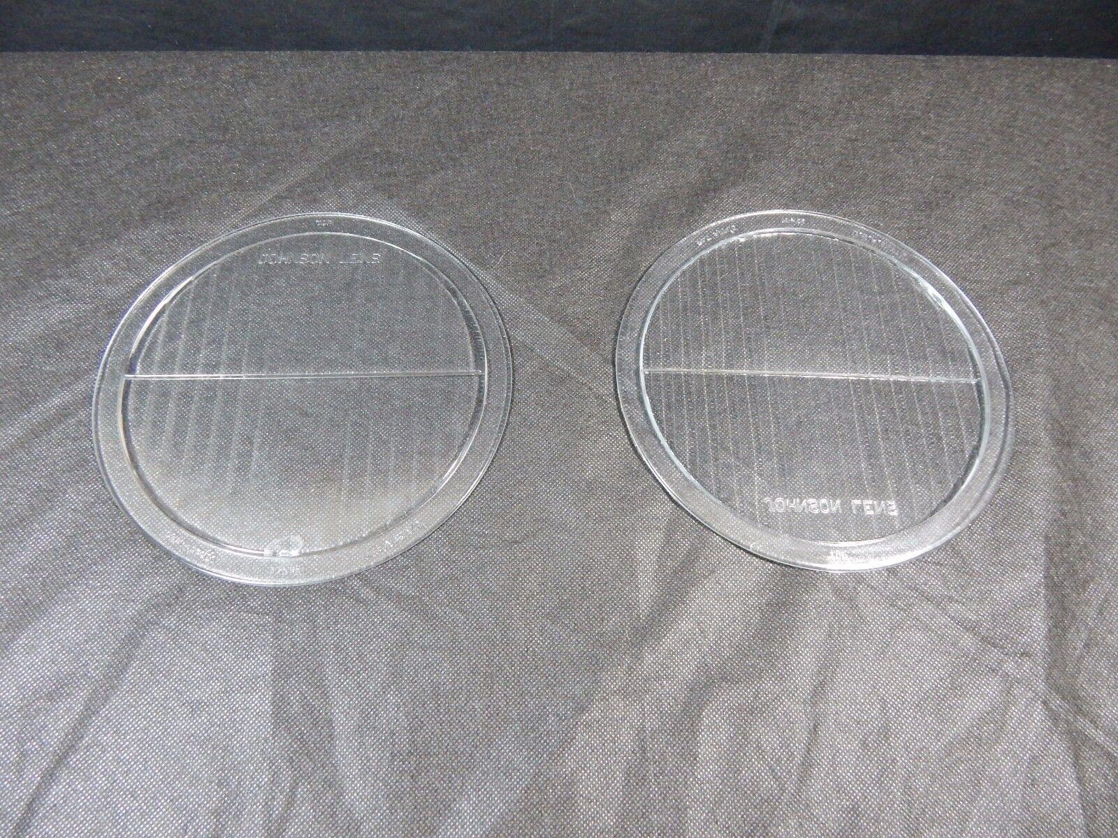 Vintage Glass Headlight Lens PAIR MCKEE GLASS  TWOLITE HEADLAMP 1930's