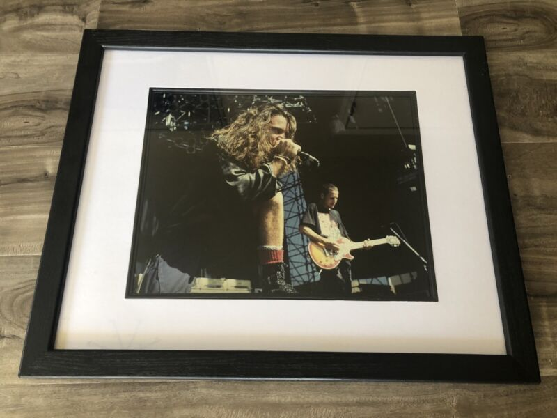 Large framed Pearl Jam Action Photo