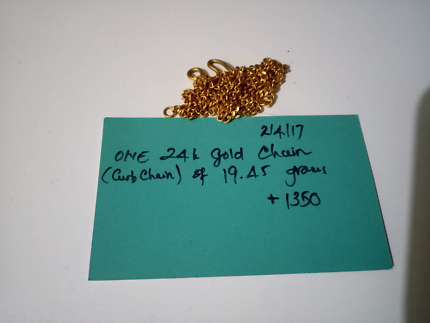 One 24K GOLD CHAIN FOR SELL (URGENT)