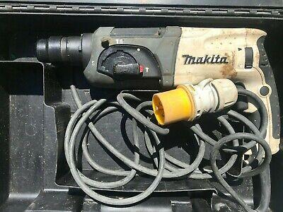 Makita HR2470 SDS hammer drill with chisel action, 110v