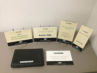2003 Hyundai Santa Fe OEM Owners Owner's Manual Set - Free Shipping