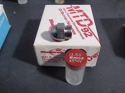 Narrow Spray (MONARCH Oil Burner NOZZLE 13.50 x 45* HV Narrow Spray Angle NEW NOS Fuel Furnace )