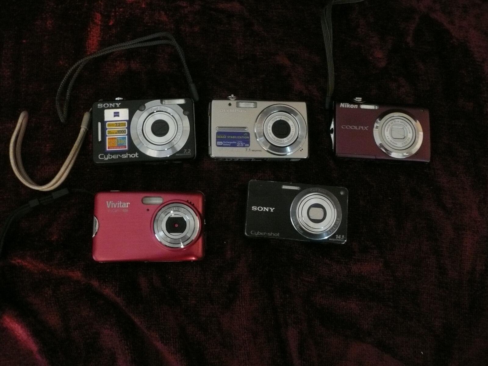 Lot of 5 digital cameras