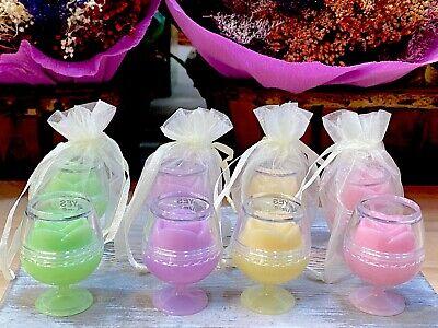 Detalles para Boda Comuniones Bálsamo de labios copa en bolsa regalo 24...