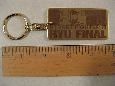KEYCHAIN RYU FINAL STREET FIGHTER III JAPAN 1999 NEW SEALED CAPCOM METAL HEAVY