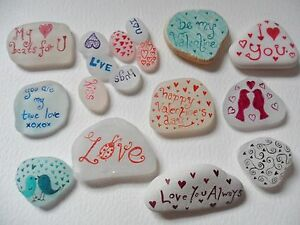 Romantic-keepsakes-Personalised-messages-on-Sea-glass-pottery-pebbles