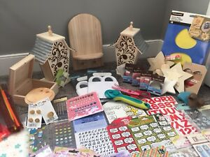 Scrapbooking Supplies & Paintable Wood Items