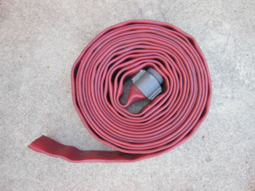 """Angus Redchief FIRE HOSE 3"""" x 50 ft. with one Male NH Aluminum Couplings"""