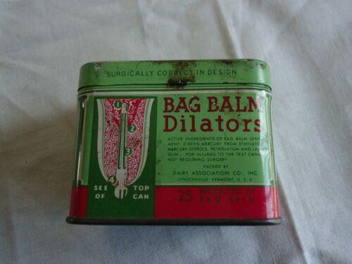 Vintage Bag Balm Dilators Dairy Farm Medicine Advertising Tin ~ Empty Can