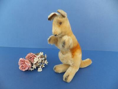 Vintage Antique Mohair STEIFF KANGAROO Toy Glass Eyes Wood Fill id 4314,00  Bear