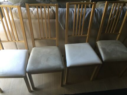4 x Ikea Borje Dining Chairs