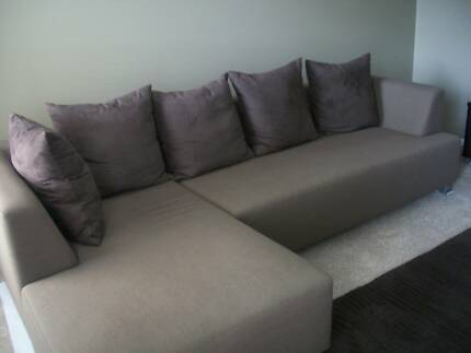 Modern Fabric Sofa with Chaise Benowa Gold Coast City Preview