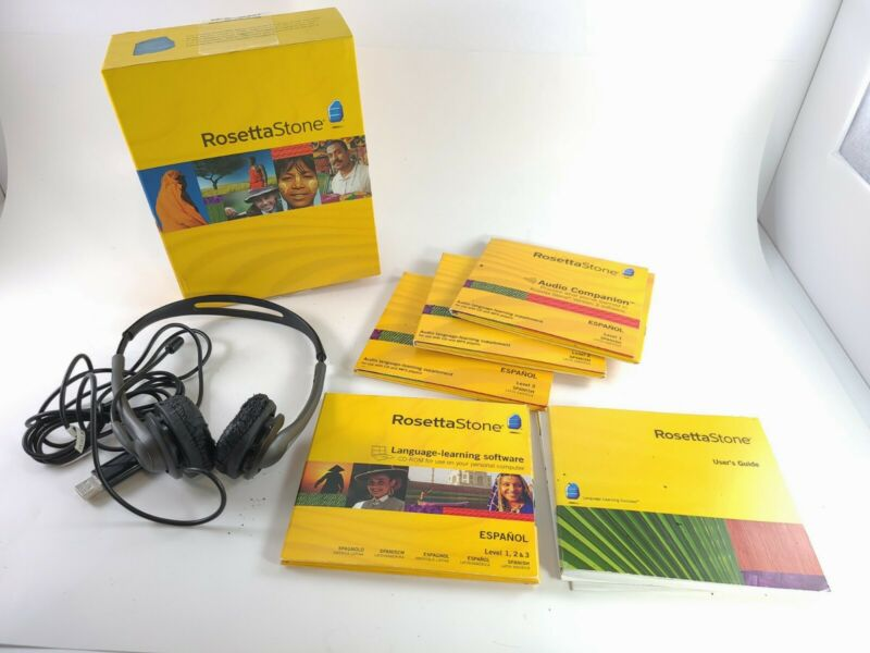 Rosetta Stone Espanol Level 1-3 Spanish Latin America Version W/ Audio Companion