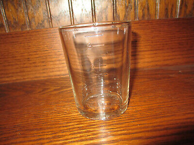 Old Arcade Crystal Coffee Grinder Glass Catch Cup No.3 Signed Bottom - Original