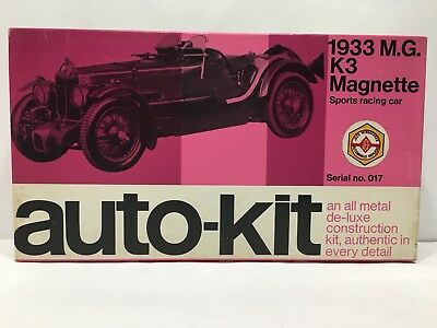 AUTO-KIT 1933 M.G. K3 MAGNETTE SPORT RACING CAR 1/24 SCALE SERIAL NO. 017 RARE.