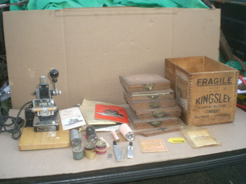 Kingsley Hot Foil Stamping Machine 5 Type Sets  Accessories & Foils