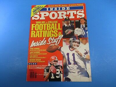 Inside Sports Magazine August 1990 NFL & College Football Ratings M4957