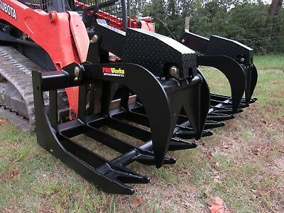Bobcat Skid Steer Attachment - 84 Extreme Duty Root Grapple Bucket - Ship 199