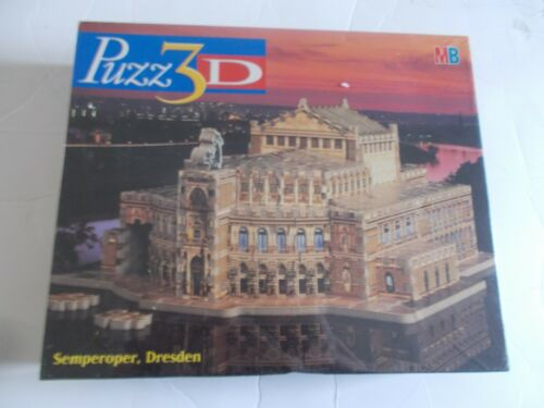 Puzz 3D Semperoper Dresden Milton Bradley 374 pieces 1997 Very Rare Sealed