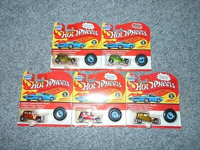 5 HOT WHEELS 1993 VINTAGE COLLECTION MOC 10494 '32 FORD VICKY CARS LOT