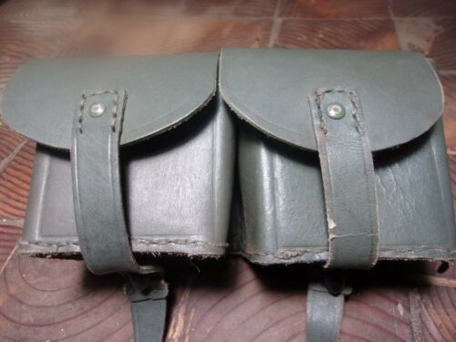 NEW UNISSUED  SURPLUS WWII ITALIAN LEATHER AMMO POUCH