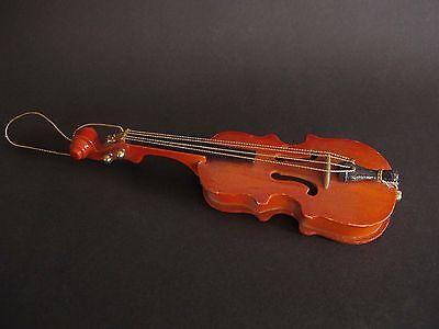 Schöne Violine aus Holz 19,5 cm lang Dekoration