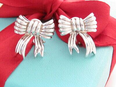 Tiffany & Co Silver Bow Ribbon Gorgeous Clip On (Tiffany Bow)