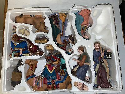 Kirkland Signature Large Porcelain Nativity Set Hand Painted 11 pcs Creche 75177