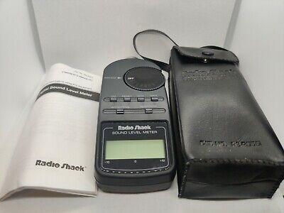 Radio Shack Digital Sound Level Meter Tester 33-2055 With Case Manual