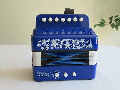 First Act Discovery Accordion Blue Musical Instrument Good Clear Loud Sound Star