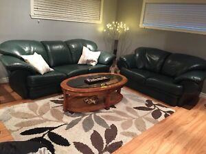 Beautiful leather living room couch
