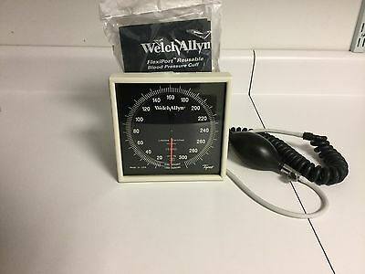 Welch Allyn Ce0050 Wall Sphygmomanometer With New Pb Cuffcoil Tubingbp Port