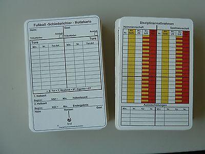 100 b+d Spielnotizkarten Schiedsrichter Notizkarten Fußball DFB-net   *neu*