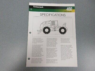 Timberjack 460 Skidder Sales Sheet 2 Pages