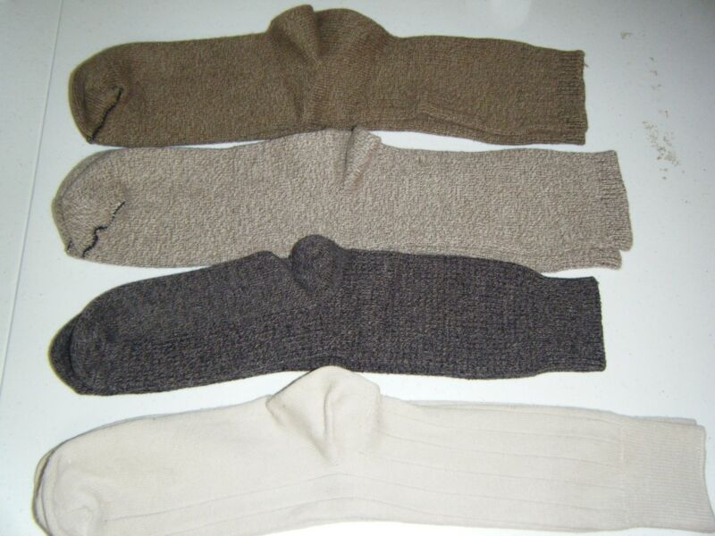 4 PAIR SOCKS 15 INCH BLACK TAN TWEED 16 OLIVE TWEED 16 DARK OLIVE TWEED 17 TAN