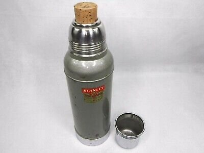 Vintage Stanley Super Vac Thermos with Cork Stopper Model N944 Stainless Steel