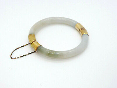 lovely vintage all cream with silver tone enamel hinged bangle 1.25 inches wide