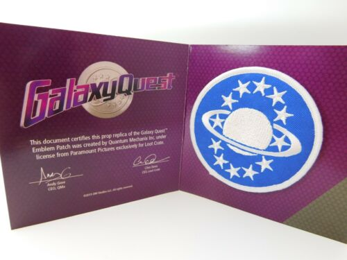 LOOT CRATE Galaxy Quest Emblem Replica Prop Patch by QMX Free Shipping
