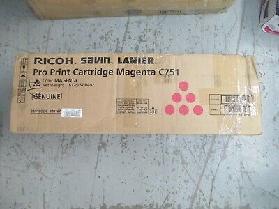 828187 New Genuine Ricoh Savin Lanier Magenta Pro Print Cartridge For C751